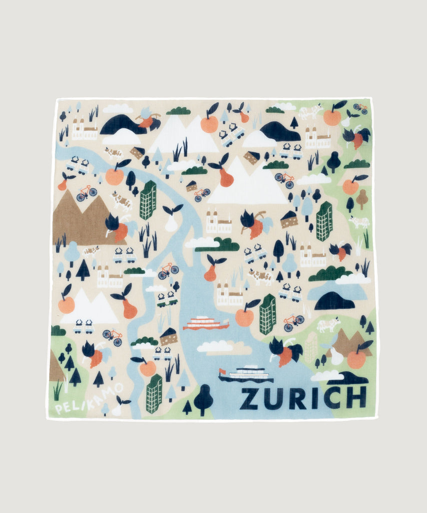 Linen Pocket Square Zurich Light