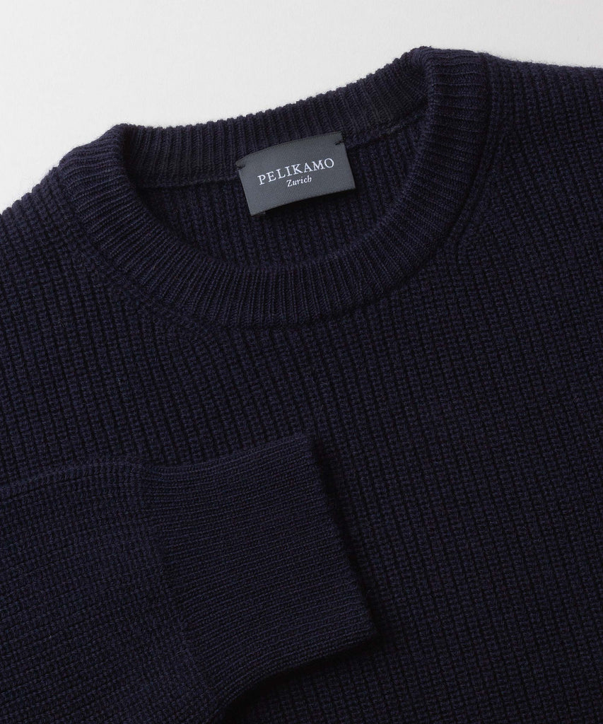 Made To Order Cashmere Heavy Ribbed Roundneck