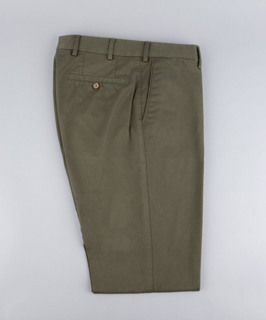 Trousers Twill Olive