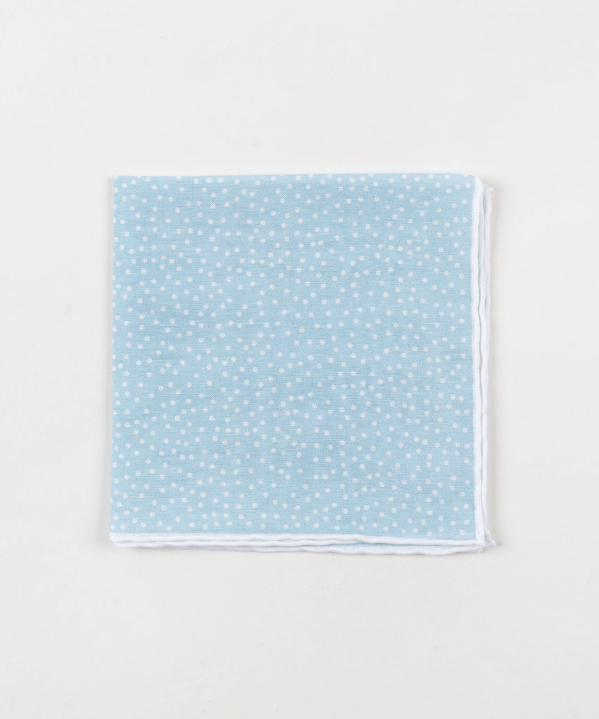 Linen Pocket Square Dots
