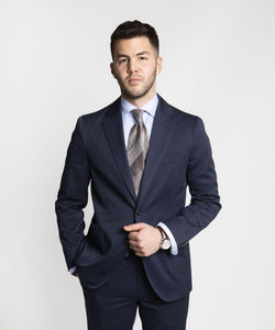 Twill Cotton Suit - Blue