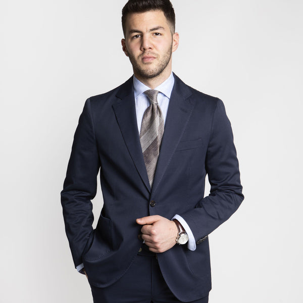 Twill Cotton Suit Blue