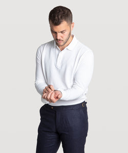 Long Sleeved Pique Polo