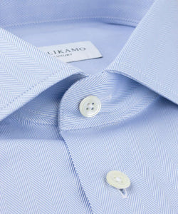 Shirt Herringbone Blue