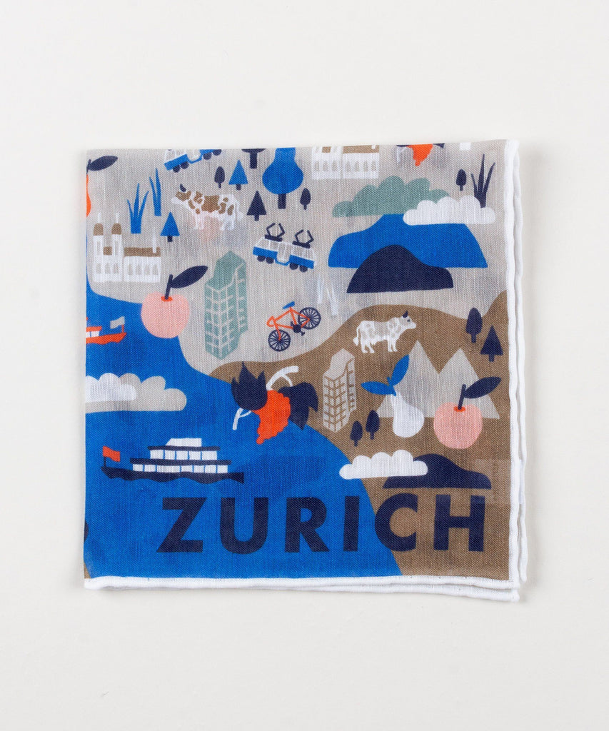 Linen Pocket Square Zurich