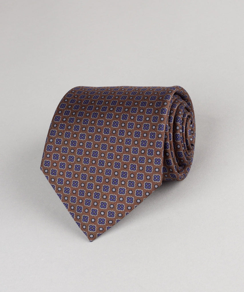 Printed Tie Square Flowers
