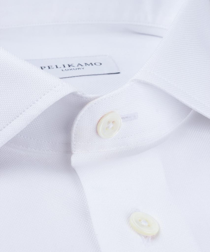Luxury Shirt Pinpoint White