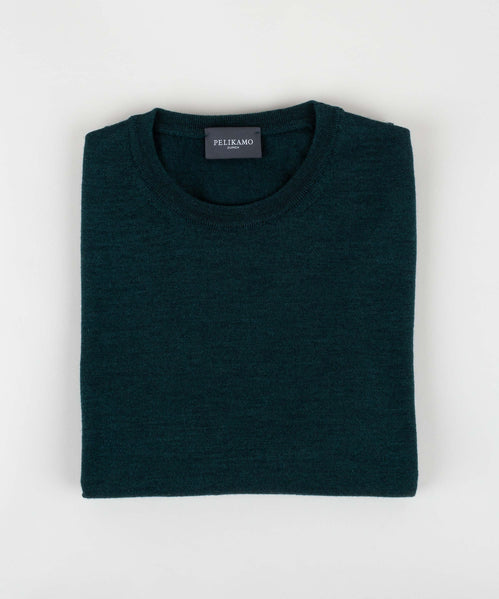 Wool Silk Roundneck Sweater