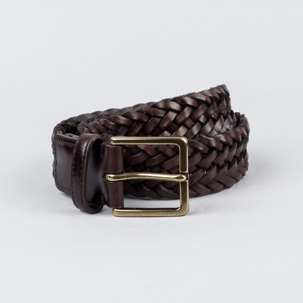 Woven Leather Belt - Pelikamo