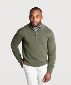 Polo Cotton Pique Sweater