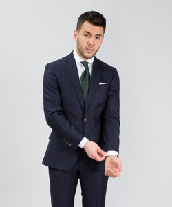 Suit Loro Piana - Check Blue