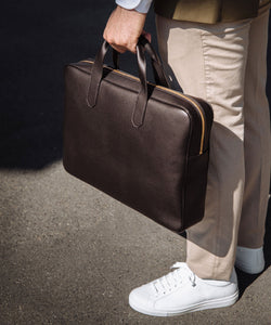 Leather Business Bag - Pelikamo