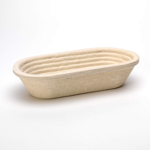 750g Oval Ridged German-made Woodpulp Banneton, Brotform or Proving Basket