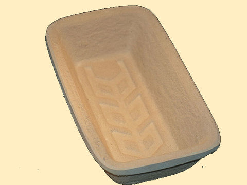 750g Rectangular with Wheat-ear Pattern  German Woodpulp Banneton, Brotform or Proving Basket