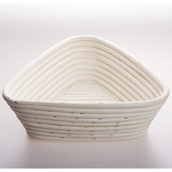 Triangular Rattan Cane Banneton + Liner Bread Dough Proving Proofing Basket Brotform