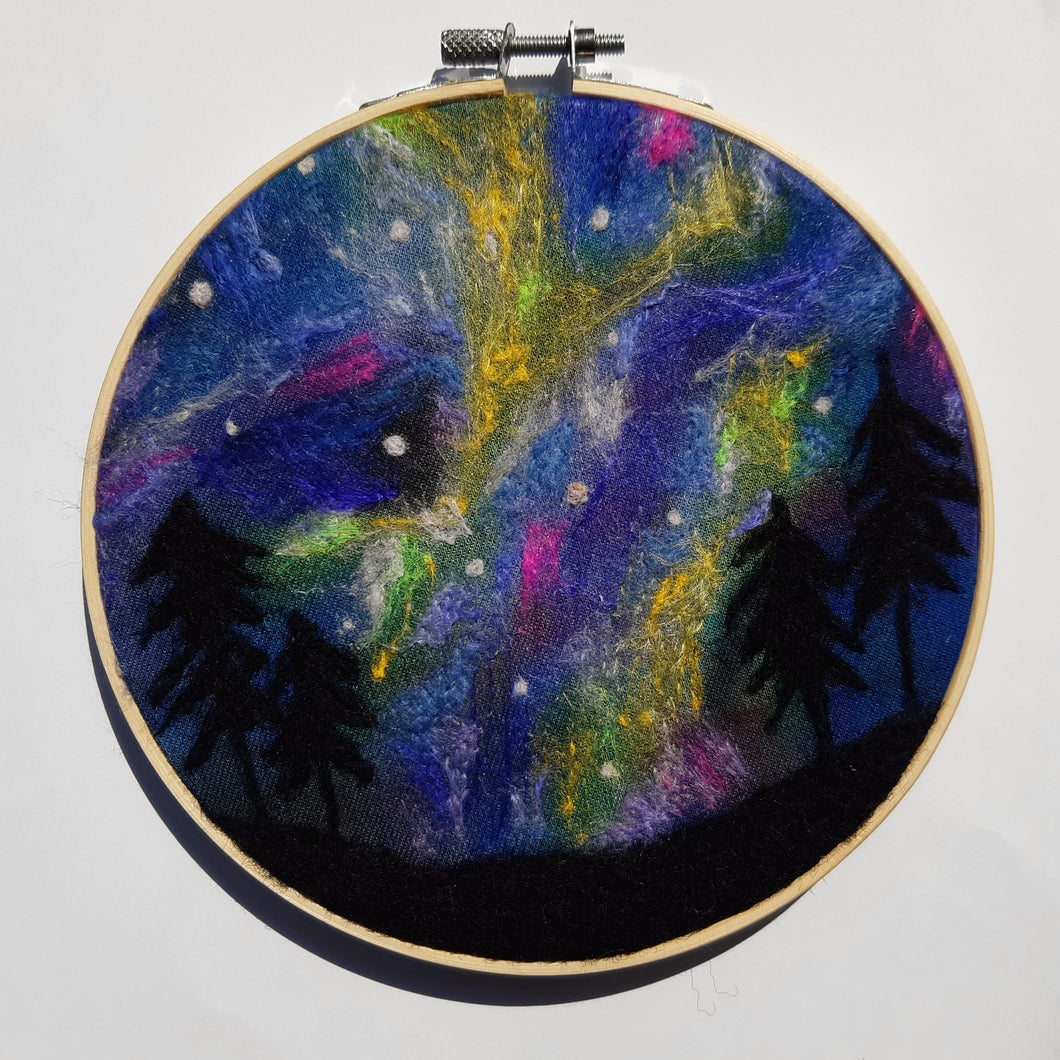Northern lights- original needle felted art