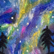 Load image into Gallery viewer, Northern lights- original needle felted art