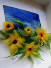 Load image into Gallery viewer, Sunflowers - Original needle felted art