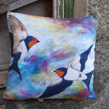 Load image into Gallery viewer, Swallows - Cushion Cover
