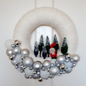 Bling Bauble & Santa Wreath