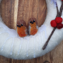 Load image into Gallery viewer, Robins On A Snowy Wreath
