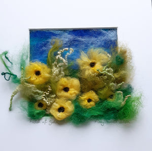 Field Of Gold - Original Needle Felted Art