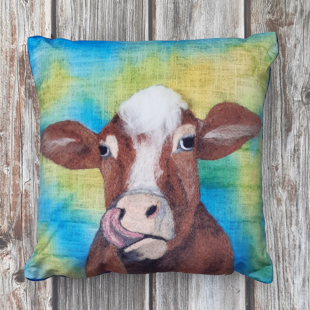 Daisy The Cow  - Velvet cushion