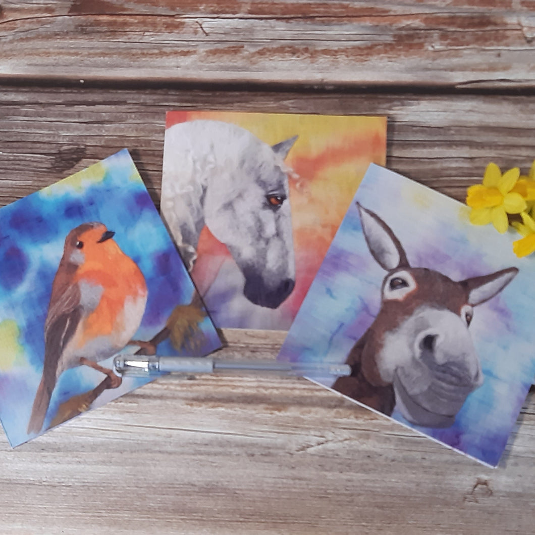 Colourful Creatures - Greeting Card Bundle