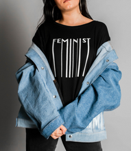 Load image into Gallery viewer, Feminist Melting Tee