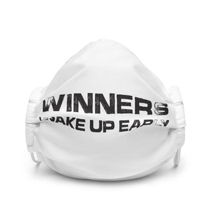 Winners Wake Up Early Premium face mask