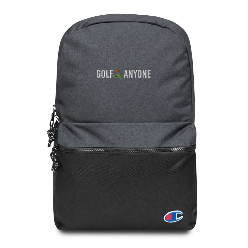 Golf Anyone Embroidered Champion Backpack