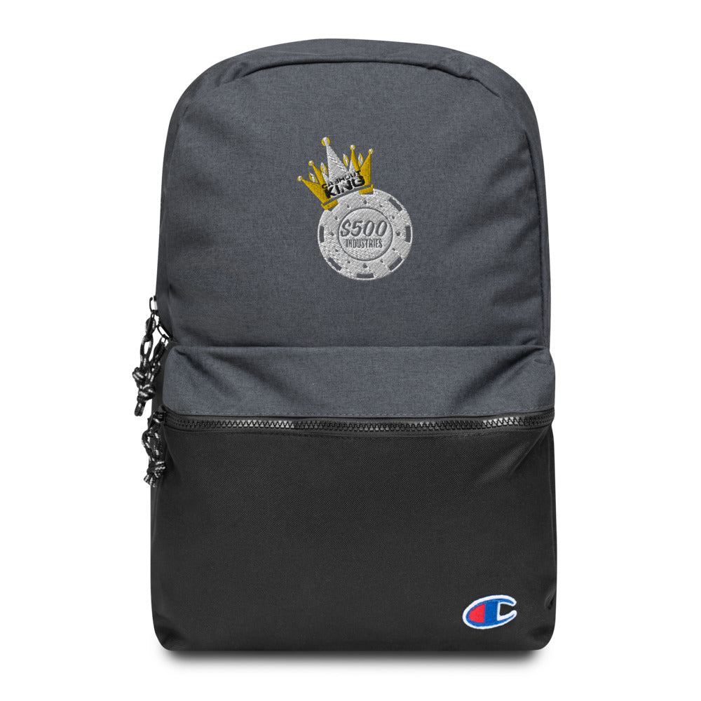 Cashout King Embroidered Champion Backpack