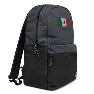 Mexico Flag El Chapo Embroidered Champion Backpack
