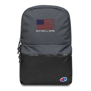 We Will Win Embroidered Champion Backpack