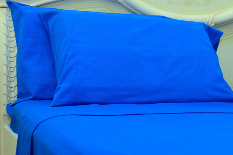 Flannel Pillowcases 2 Pack-Classic Blue - Standard/Queen Size