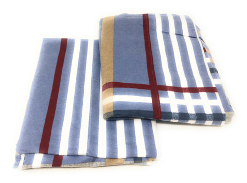 Flannel Pillowcases 2 Pack-Sky Blue Plaid- Standard/Queen Size