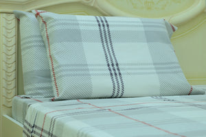 flannel sheets white plaid