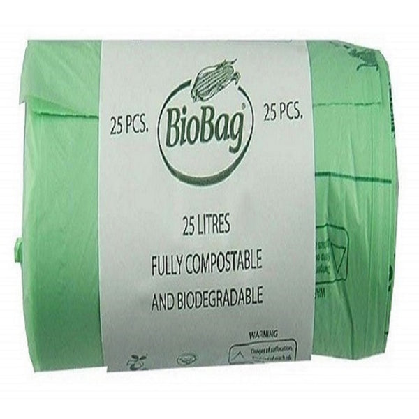 BioBag Compost Bags 10 Litre - 25 Bags - No packaging