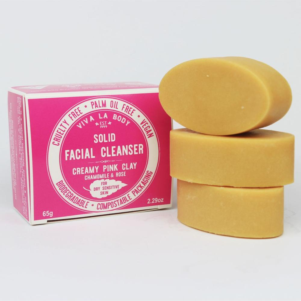 Facial Cleanser Creamy Pink Clay for Sensitive to Dry Skin