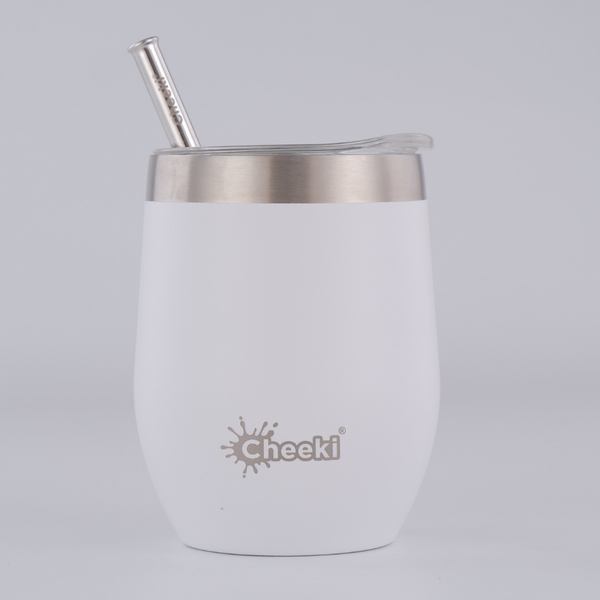 320ml Insulated Wine Tumbler - Spirit White