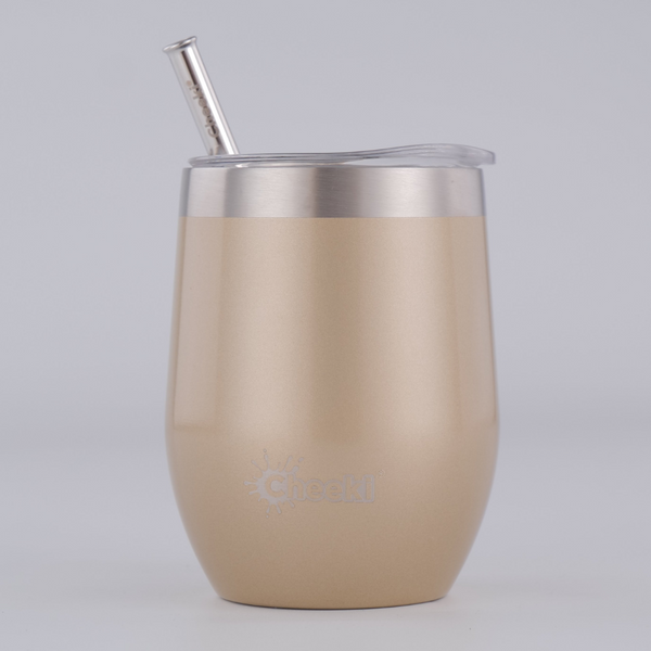 320ml Insulated Wine Tumbler - Soft Gold
