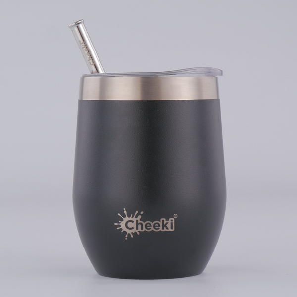 320ml Insulated Wine Tumbler - Rich Black
