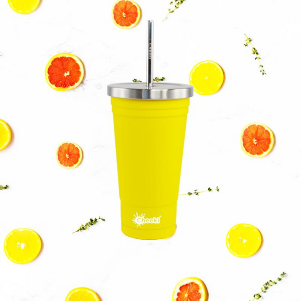 500ml Stainless Steel Insulated Tumbler - Lemon