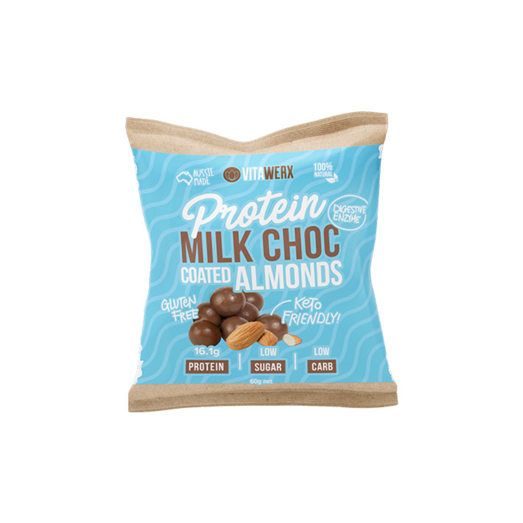 Protein Milk Chocolate Coated - Almonds