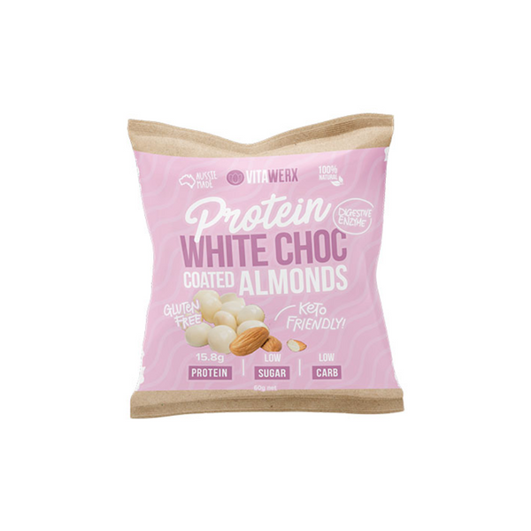 Protein White Chocolate Coated - Almonds