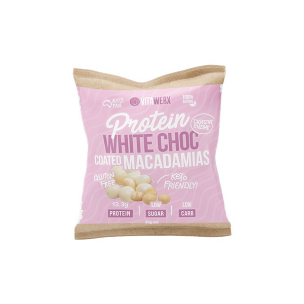 Protein White Chocolate Coated - Macadamias