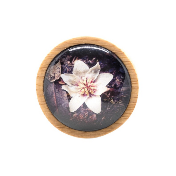 Purple Flower Brooch - Wood Brooch - Australian Flowers - Wildflower Jewelry - Handmade in Tasmania, Australia