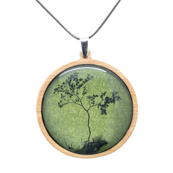 Tree Of Life Necklace - Woodland Pendant - Forest Necklace - Green, Blue, Purple, Red or Black & White
