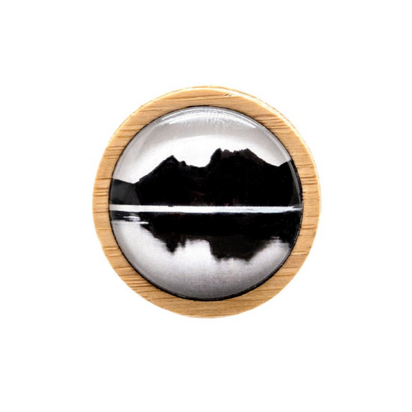 Mountain Pin - Nature Brooch - Cradle Mountain - Handmade in Tasmania, Australia