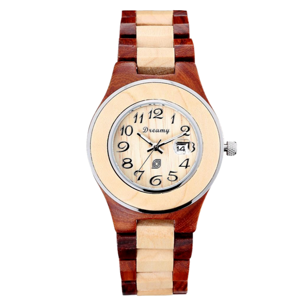 Women's Natural Maple & Rosewood Wooden Watch